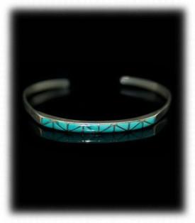 Zuni Inlay Turquoise Bracelet