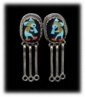 Zuni Jewelry - Mosaic Zuni Earrings