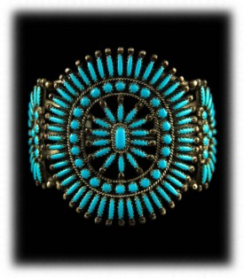 Zuni Turquoise Native American Jewelry
