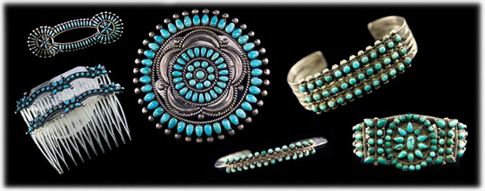 Zuni Native American Indian Inlay Jewelry