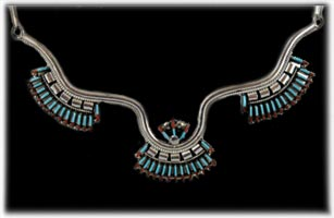 Zuni Needlepoint Necklace